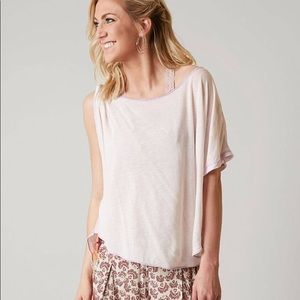 Free People Pluto one shoulder t shirt lavender
